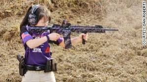 cnn purple gun girl